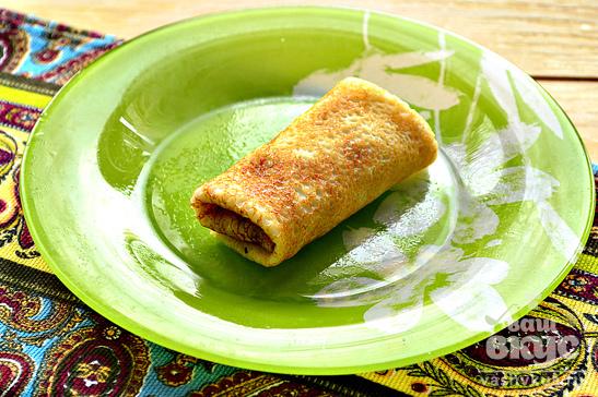 Блинчики с начинкой из плавленного сыра