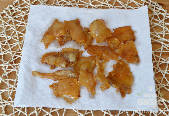 Чичаррон из куриной шкурки
