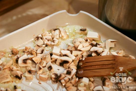 Пирожки с рисом, грибами и зеленью