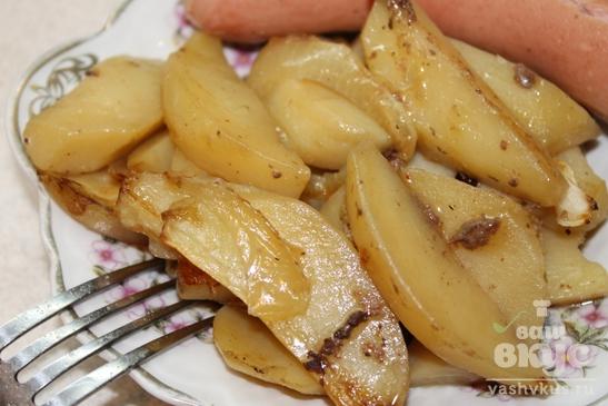 Запеченный картофель в курином жире