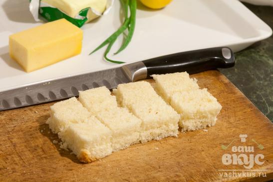 Канапе с сыром, яблоками и лимоном