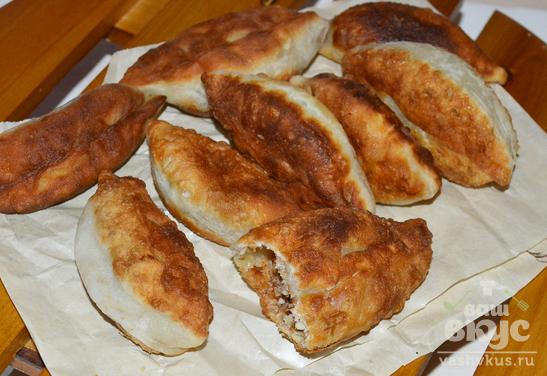 Пирожки на кефире с мясом