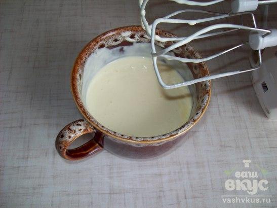 Капустная запеканка с сыром и сосиской