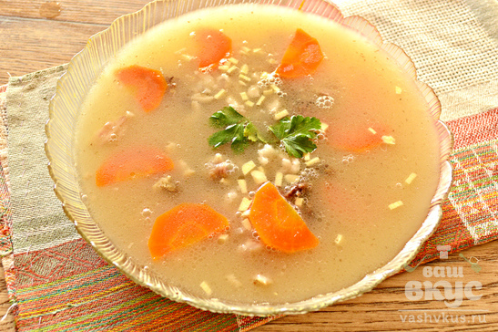 Холодец из свиных ножек с морковью и зеленью